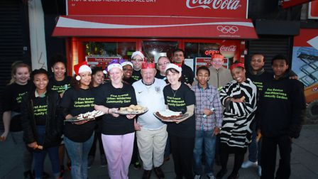 Urban Wilderness Community Gardens organise a free Christmas meal for homeless people at the Three M