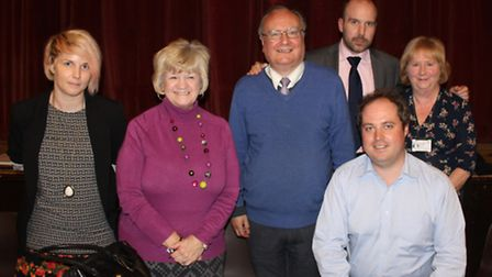 The panel for last night's Save Our Suburbs public meeting, (left to right) cllr Emma Best, cllr Sue