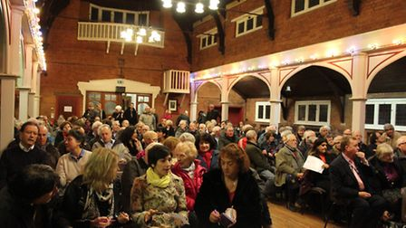 Hundreds of residents attended the Save Our Suburbs public meeting in Woodford Parish Church Hall la