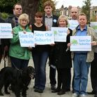 """Conservative councillors at the launch of """"Save our Suburbs"""" campaign against tentatively proposed d"""