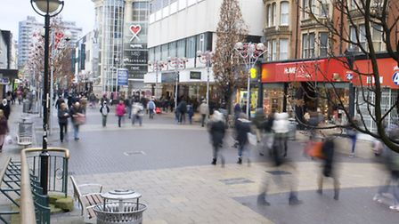 Shopping in Ilford town centre after boxing day (photo: Arnaud Stephenson)