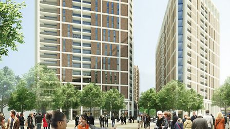 A CGI image of the next phase of the development