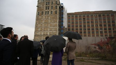 The visitors looked around the site for a new development in Silvertown