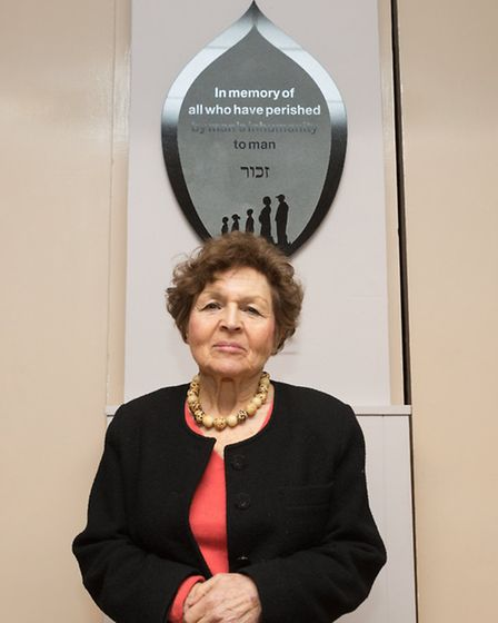 Janine Webber at the Holocaust Memorial Day reception at Romford and District Synagogue
