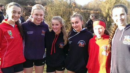 Coopers Coborn's senior girls at the Knole Run