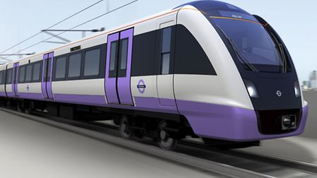 The new Crossrail train will become a familiar sight - but not until 2017 (Picture: TfL)