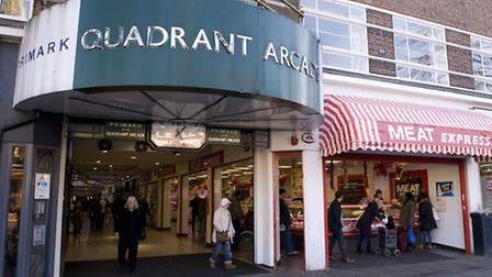 The Quadrant arcade Romford which is working with a creative arts programme to regenerate it (photo