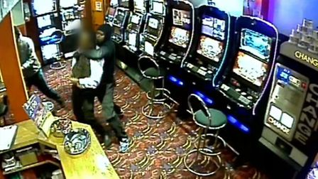 Mohamed Sayid holds a victim at knifepoint in Cashino, High Street North, East Ham