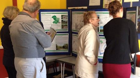 The Dunton Garden Suburb drop-in event on Tuesday at St Francis Church, West Horndon. Picture: Brent