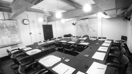 The War Cabinet room used by Churchill during the war. Picture: PA