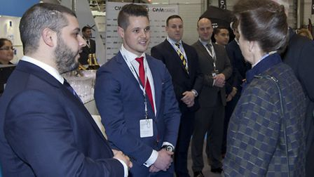 Princess Anne meets representatives at the London Boat Show (picture: onEdition)