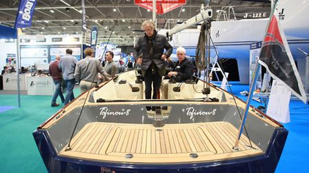 Visitors at the London Boat Show in ExCeL London