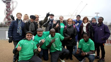The Newham Striders group before they set out on their walk
