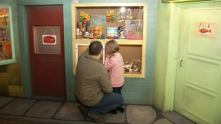 A father and his daughter visit Discover, Stratford