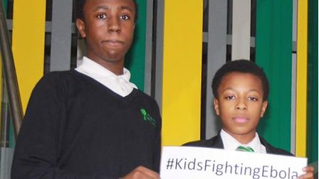 (L-R) Jamal Vitalis and Samba Tanba spearheaded the campaign to raise awareness about Ebola at Fore