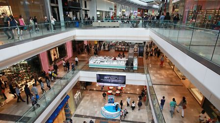 Shoppers at Westfield Stratford City Shopping Centre.
