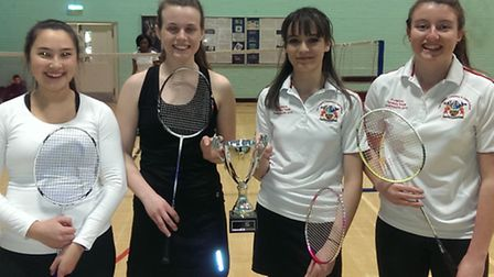 Coopers Coborn's girls won the borough's sixth form badminton competition