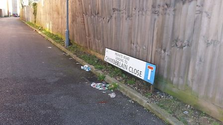 Chamberlain Close, where Yogesh Desai was murdered just yards from his home