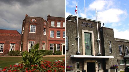 Langtons House in Hornchurch and Havering Town Hall in Romford. Hornchurch's council offices used to