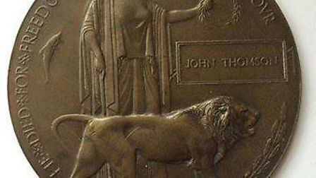 Up close: The 'penny', emblazoned with the name John Thomson (Picture: Paul Jenkins)