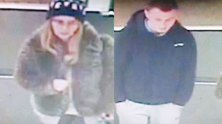 Police want to speak to this man and woman. Picture: Essex Police