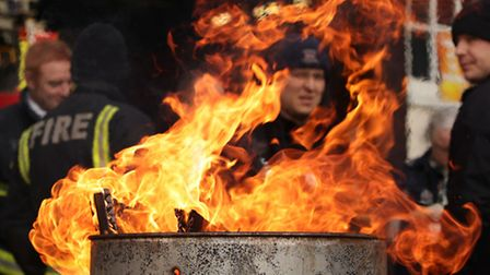Firefighters strike over government pension plans
