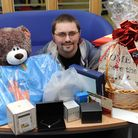 Newham's most romantic man, Dave Lewis, with his prizes