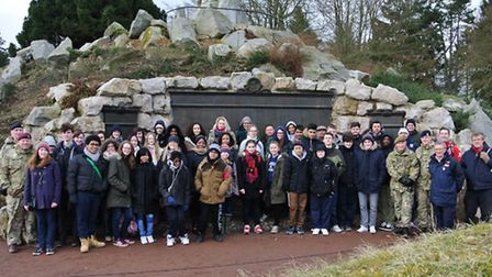 The group at the Beaumont-Hamel Newfoundland Memorial Park in the Somme. Picture: Erica Spurrier/Equ