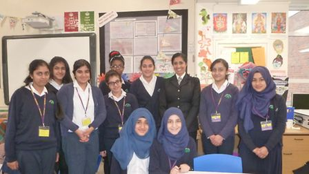 Chief Inspector Shabnam Chaudhri returned to her old school to talk to students