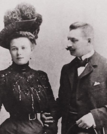 A picture of Prince Ivan Nicolaevitch Sviatopolk-Mirski, and Princess Nadezhda Vassilievna. Both Pri