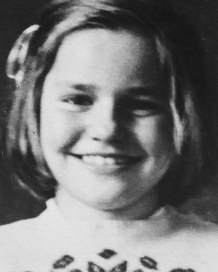 A picture of Princess Maria Sviatopolk-Mirski, aged 9