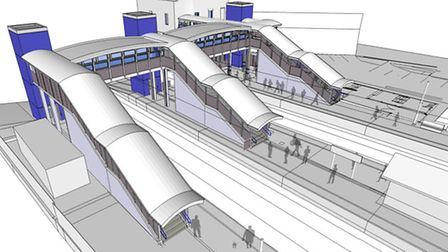 What Harold Wood station might look like. Picture: Crossrail