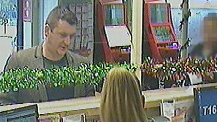 John O'Connor caught on CCTV at a Ladbrokes branch in Woodford