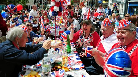 A street party to commemorate The Queen's Diamond Jubilee at Ashby De La Zouch, Leicestershire.
