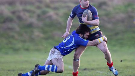 Old Cooperians were edged out by Diss at Coopers Coborn School (pic: Gavin Ellis/TGSPHOTO)