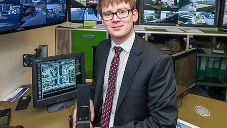 Cllr Damian White trying out the new system. Picture: Havering Council