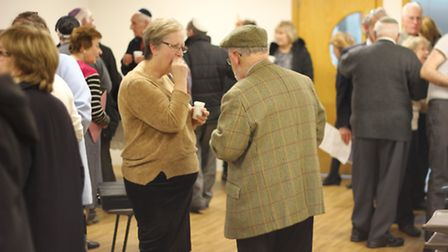People at the anti-Semitism event at the Ilford Federation Synagogue, Gants Hill. Picture: Ajay Nair
