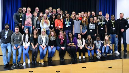 Students and staff from Newham Sixth Form College (NewVIc) and the Berufliche Schule Korbach und Bad
