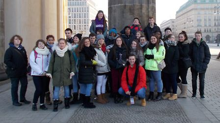 The students at Sanders School in Hornchurch visited Germany and Poland for the 70th anniversary of
