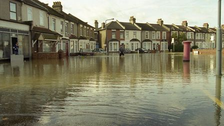 The River Roding flood in 2000.