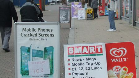 A-boards have become a source of complaints about pavement clutter and obstructions