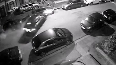 CCTV footage shows when the driver loses control of the black Honda car in Hampton Road
