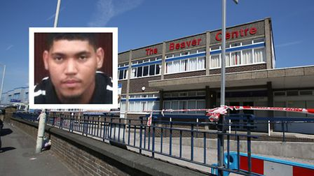 Ashley Latty, inset, was stabbed outside the Beaver Centre in Dagenham. Pictures: Met Police/Ellie H