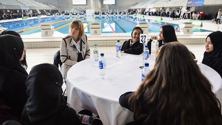 The speed networking event featured 300 pupils