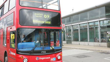69 bus at Canning Town station