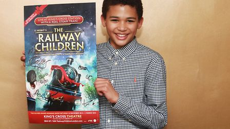 Max McKenzie performs at The Railway Children at King's Cross Theatre