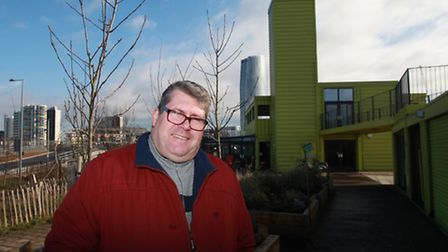 Manager Paul Shaw outside the View Tube