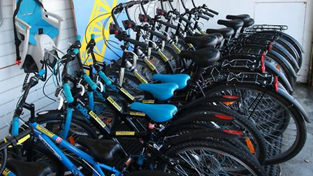 Thirty bikes are available to hire