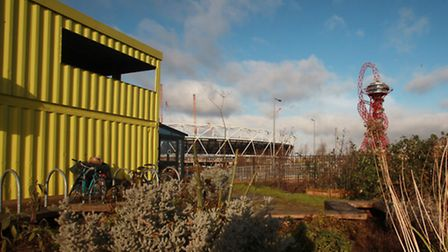 The View Tube is on the edge of Queen Elizabeth Olympic Park