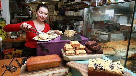 Bar assistant Denisa Gilel at the cafe in the View Tube